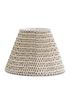 Bunny Williams Wild Ginger Brown & White Lampshade - Available in Two Sizes