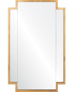 Burnished Gold Leaf Panel Wall Mirror