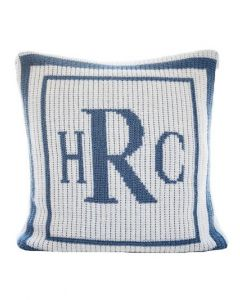 Classic Thick & Thin Double Border Pillow Available in Variety of Colors