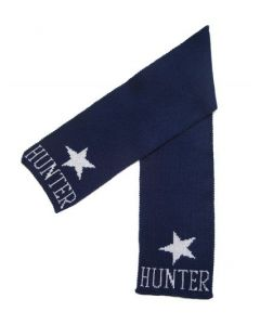 Metallic Single Star Personalized Scarf Available in Variety of Colors