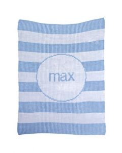 Modern Stripe Personalized Blanket Available in Variety of Colors