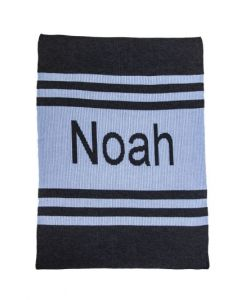 Pin Strips Personalized Blanket Available in Variety of Colors