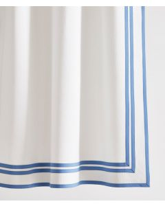 Caldwell Double Inset and Edge Tape Trimmed Shower Curtain - Available in a Variety of Trim Colors and Sizes