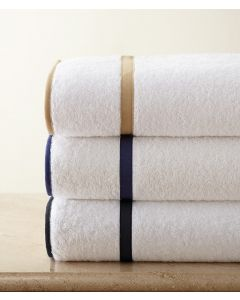Carlisle Inset and Edge Tape Trimmed Bath Towels - Available in a Variety of Trim Colors and Sizes
