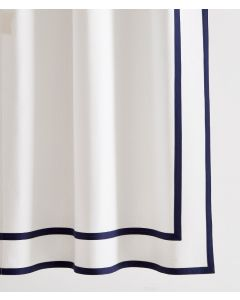 Carlisle Inset and Edge Tape Trimmed Shower Curtain - Available in a Variety of Trim Colors and Sizes