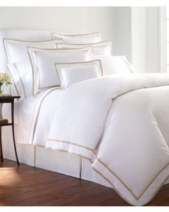 Carlisle Inset and Edged Tape Applique Duvet- Available in a Variety of Trim Colors and Sizes