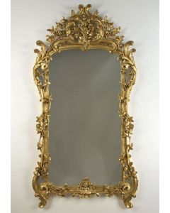 Carvers Guild Chateau Rose Mirror in Antique Gold