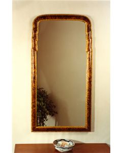 Carvers Guild Faux Tortoise on Gold Queen Anne Mirror