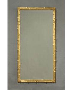 Carvers Guild Antique Gold Leaf Bamboo Wall Mirror