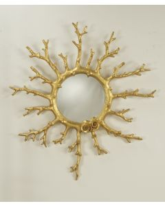 Carvers Guild Coral Wreath Wall Mirror-Available in Two Different Finishes