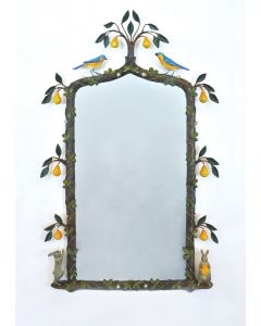 Carvers Guild Hand Painted In a Pear Tree Mirror