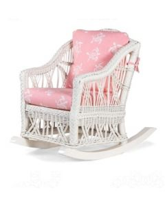 Children's Braided Wicker Rocking Chair - Available in a Variety of Finishes