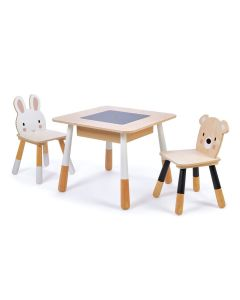 Enchanted Forest Table & Chairs With Chalkboard Top and Storage