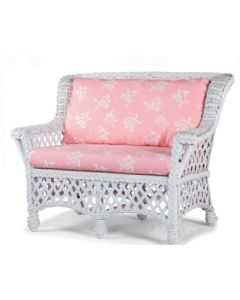 Children's Braided Wicker Love Seat - Available in a Variety of Finishes