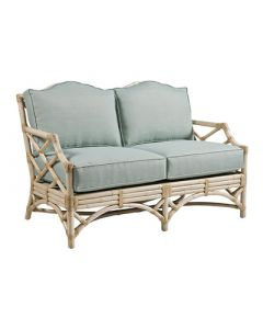 David Francis Chippendale Loveseat with Rattan Frame - Variety of Finishes Available