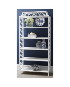 Chippendale Custom Painted Five Shelf Bookcase