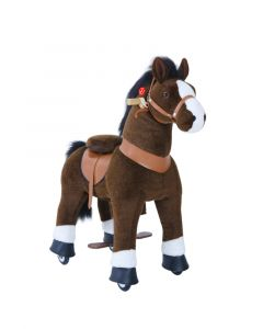 Chocolate Brown Small Horse Ride On Pony Toy For Kids