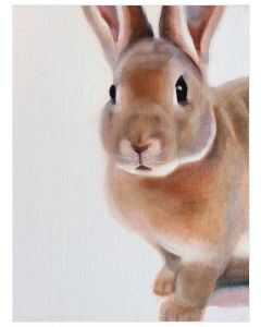 Brown Bunny Canvas Wall Art for Kids