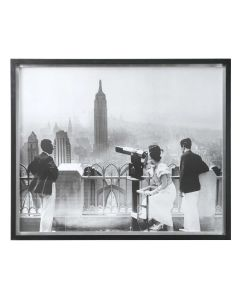 Classic Black and White Photography Manhattan View Framed Print