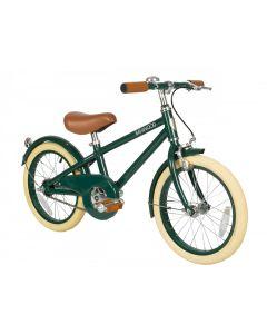 Vintage Style Bike With Training Wheels Basket in Green for Kids - Optional Matching Bike Helmet Available - ON BACKORDER UNTIL AUGUST 2021