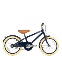 Vintage Style Bike With Training Wheels Basket in Navy for Kids - Optional Matching Bike Helmet Available - ON BACKORDER UNTIL AUGUST 2021