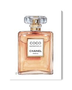 Coco Chanel Mademoiselle Perfume Fashion Canvas Wall Art - Variety of Sizes Available