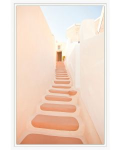 Colored Stairs 3 Framed Wall Art
