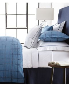 Coquette Modern Blue & Navy Geometric Grid Bedding Collection - Available in a Variety of Sizes