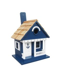 Cottage Birdhouse with Anchor Design in Navy