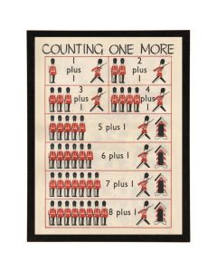 Counting Toy Soldier Wall Art with Size and Frame Options
