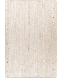 Cream Braided Jute Rug, Available in a Variety of Sizes