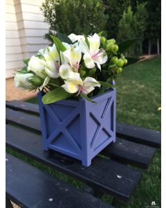 Set of Two Cross Wood Indoor Tabletop Garden Planters in Wood with Finial – Available in Two Sizes and Can be Customized