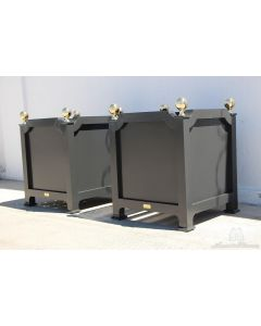 Crossette Outdoor Garden Planter in Aluminum with Finials – Available in a Variety of Size and Can be Customized