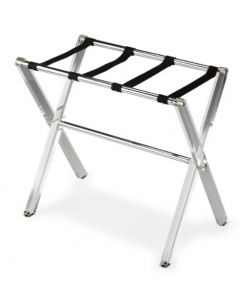Crystal Clear Acrylic & Chrome Plated Luggage Stand