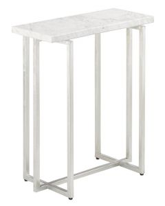 Currey & Company Cora Accent Table in Silver Leaf Finish