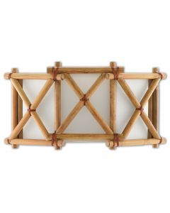 Rattan Coastal Wall Sconce in Natural