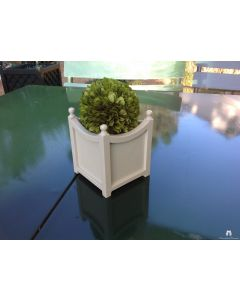 Set of Two Curved Indoor Tabletop Garden Planter in Wood with Finials – Available in Two Sizes and Can be Customized