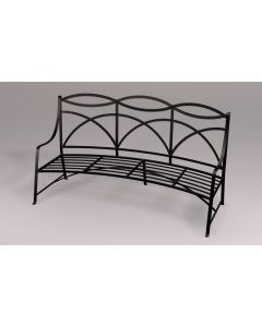 Curved Regency Outdoor Garden Bench - Available in a Variety of Colors