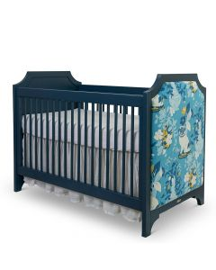 Custom Fretwork Crib With Upholstered Panels - Available in a Variety of Colors