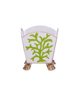 Coral Decorative Cachepot in Green