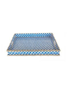 Navy Parsi Bamboo Serving Tray - ON BACKORDER UNTIL AUGUST 2021