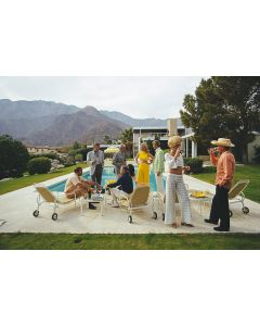 """Slim Aarons """"Desert House Party"""" Print by Getty Images Gallery - Variety of Sizes Available"""