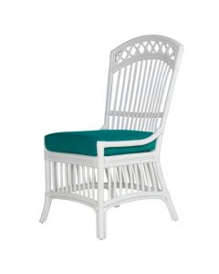 Cottage Rattan Porch Wicker Dining Side Chair - Available in a Variety of Finishes