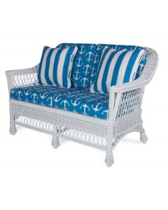 Harbor Front Wicker Love Seat  – Available in a Variety of Finishes
