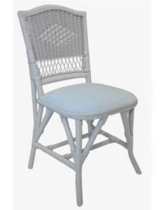 Diamond Weave Wicker Dining Side Chair - Available in a Variety of Finishes