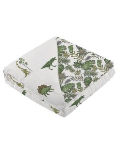 Dino Days and Jurassic Forest Cotton Muslin Baby Blanket