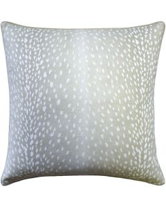 Doe Animal Print Linen Square Decorative Pillow in Dove Grey– Available in Two Sizes