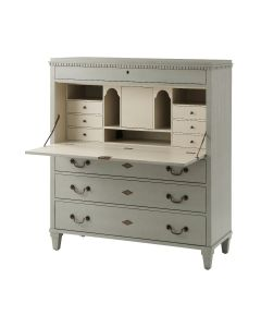Drop Leaf Desk with Hinged Front and Drawers, Available in a Variety of Finishes