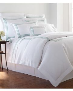 Somerset Harlow Luxe Triple Band Tape Bedding Collection - Available in a Variety of Colors and with Optional Monogram