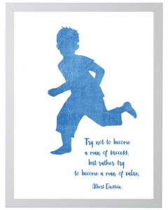 Einstein Quote Children's Wall Art With Size and Framing Options